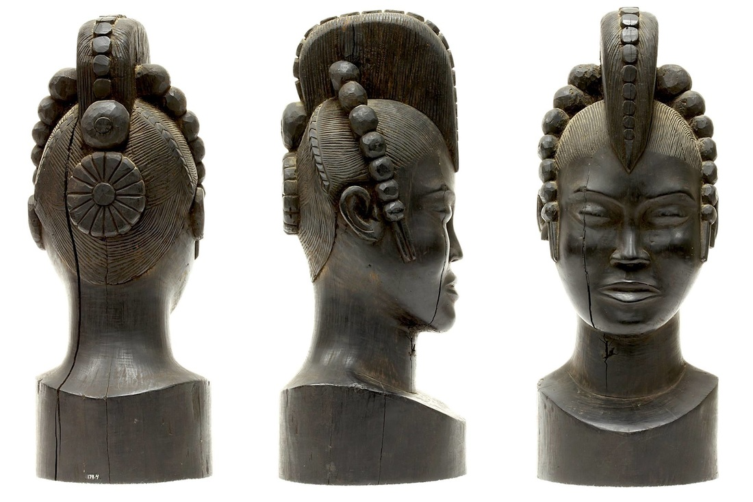 Ebony Bust from Equatorial Africa